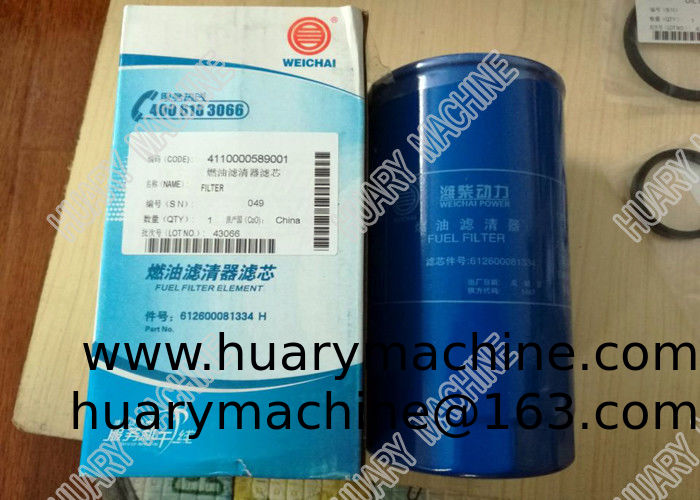 SDLG Wheel loader parts, 4110000589001 612600081334 fuel filter, fuel filter for weichai engine